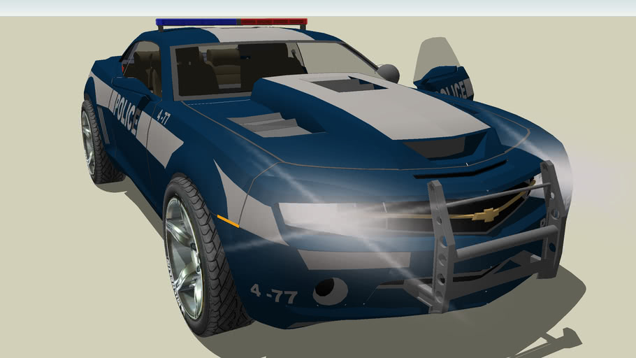 police car camaro