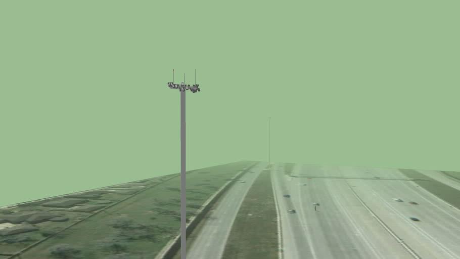 High Mast lighting on the I-69/Us 59 Southwest Freeway Part 3