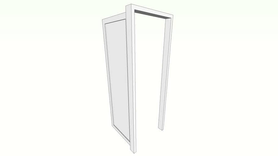 puerta de aluminio y vidrio 2.15