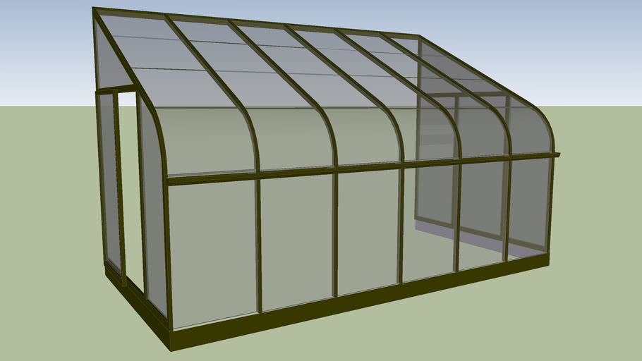 """12' 6"""" x 6' 6"""" Lean to Greenhouse"""