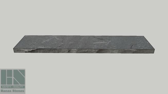 """Banas® Stones Premium Natural Wall Coping - 14"""" x 72"""" - Banas® Dove Grey RF4"""