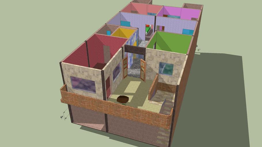 2 floor 200 sq/ft 3 bedroom home