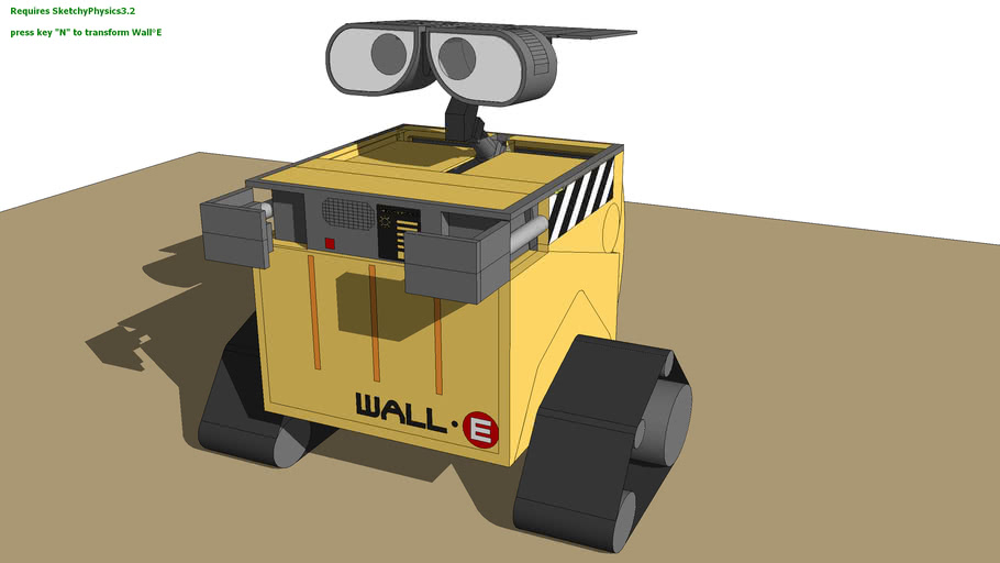WALL-E transformable (sketchyphysics) updated