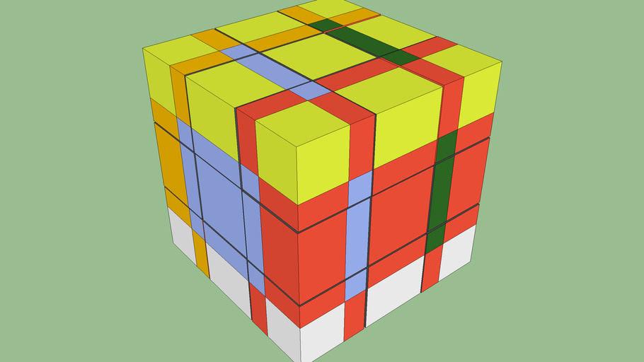 SubCube - Rubik Cube with orientation free cubies. Guzman Scheme