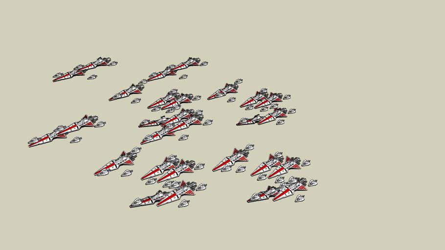 Acclamator And Venator Fleet