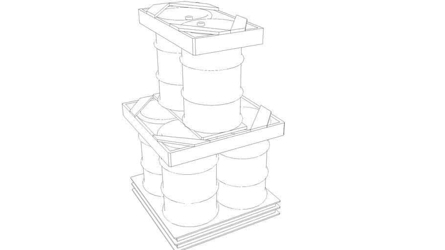 Container for landing liquids