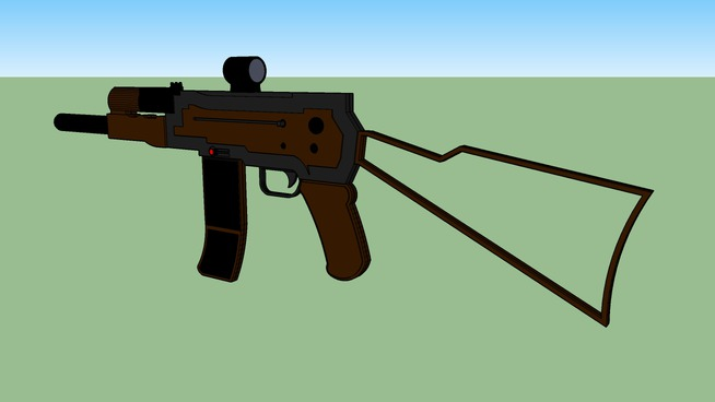 dk-47 assault rifle with scope