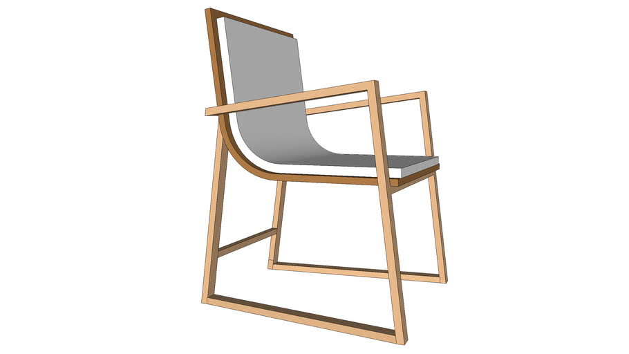 Plywood Dining Armchair