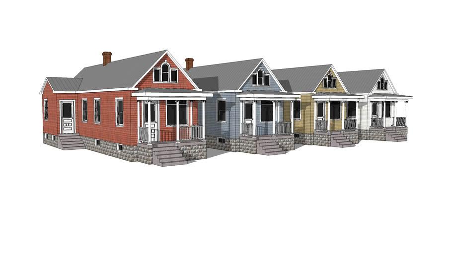 Colonial Revival-Style Shotgun Cottage