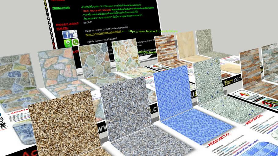 กระเบื้อง Digital Printing HD Ceramic Tiles ActUEarn3D Catalogue Part004