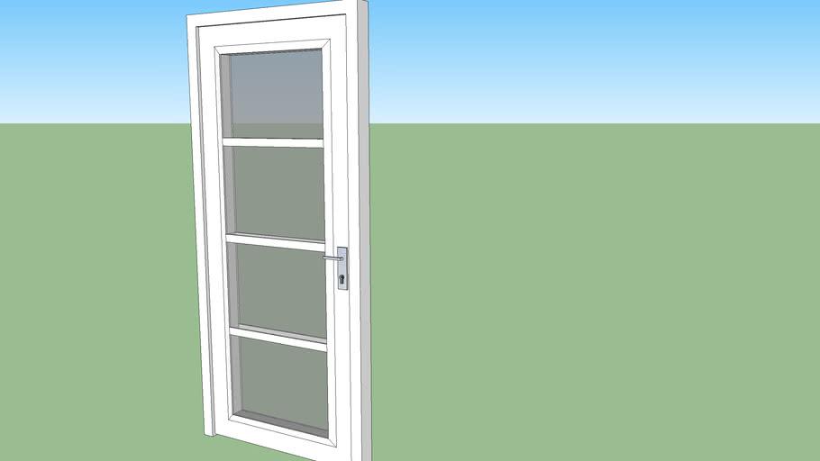 porte d'entré vitré contemporaine