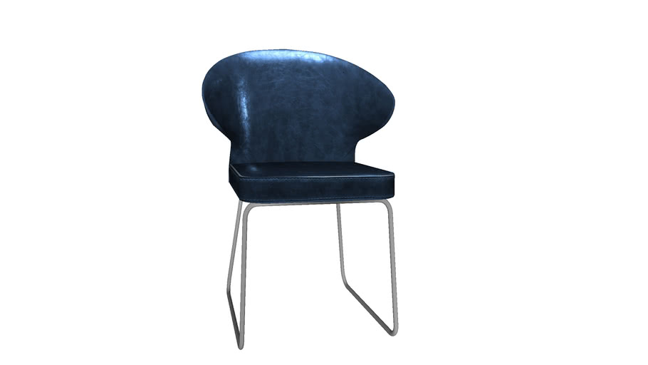 KARE 79983 Chair Atomic Blue (Stuhl Atomic Blau)