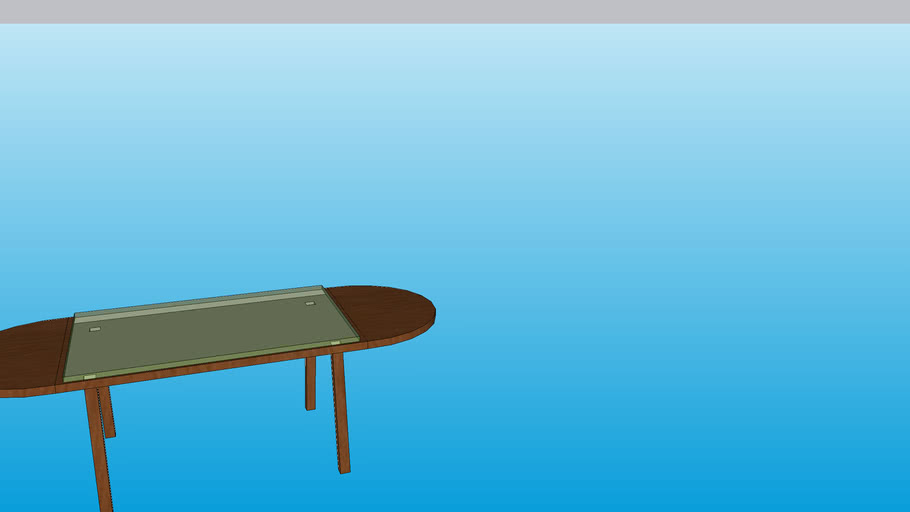 brown table with glass top