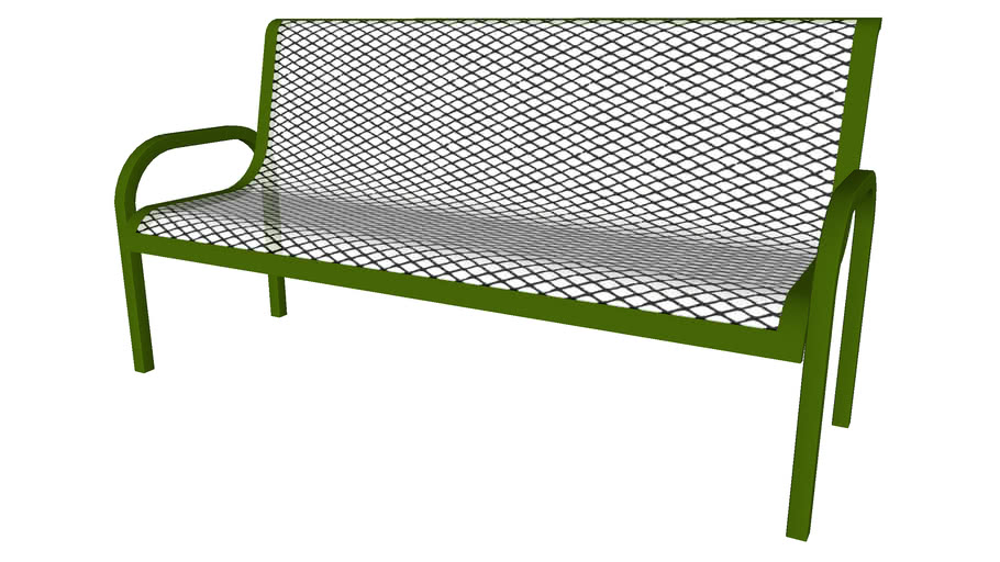 Metal Wire Bench - Detailed