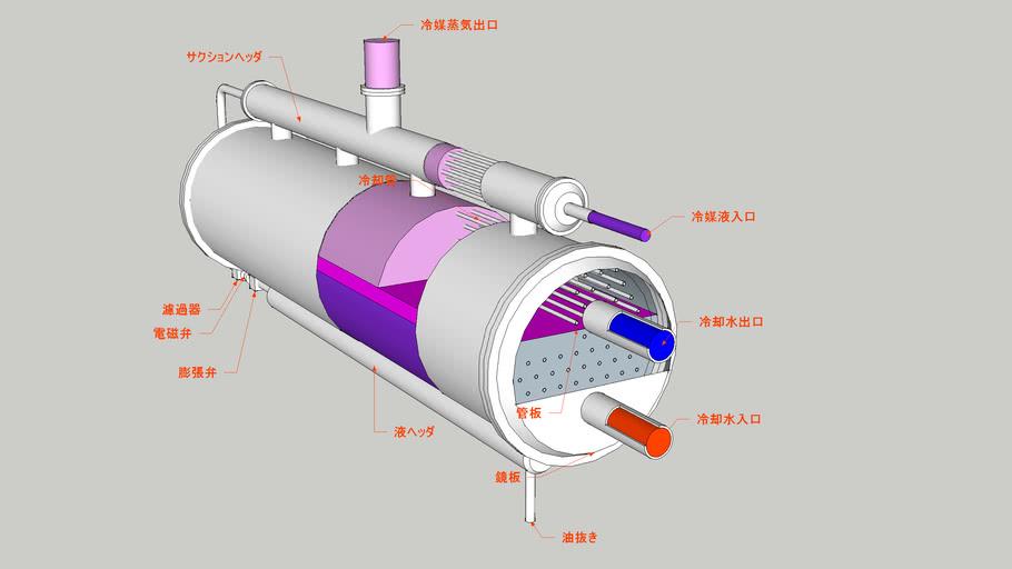 満液式蒸発器