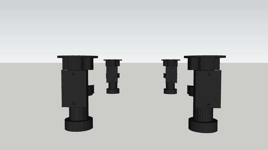 125mm adjustable legs