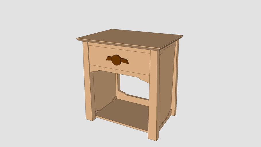 Oriental-style nightstand