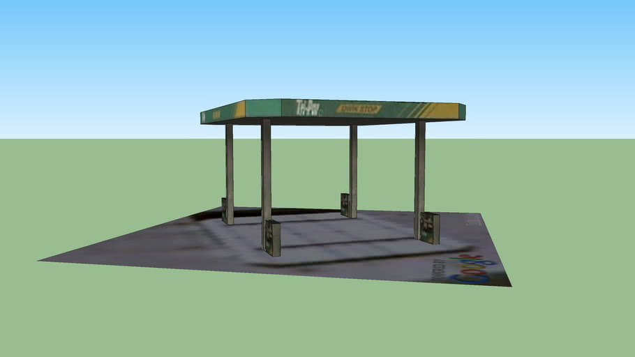 Port Washington Tri-Par Gas Station Overhang
