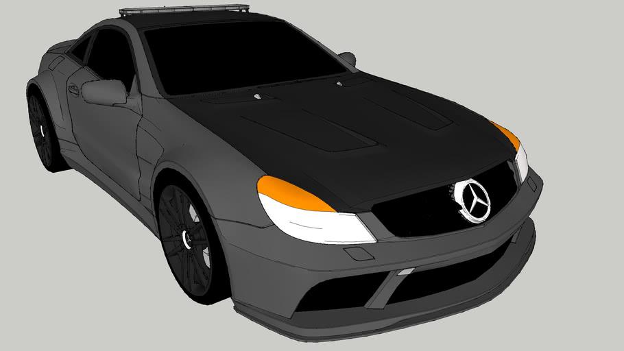 Mercedes-Benz SL65 Black Edition Police Car (unmarked)
