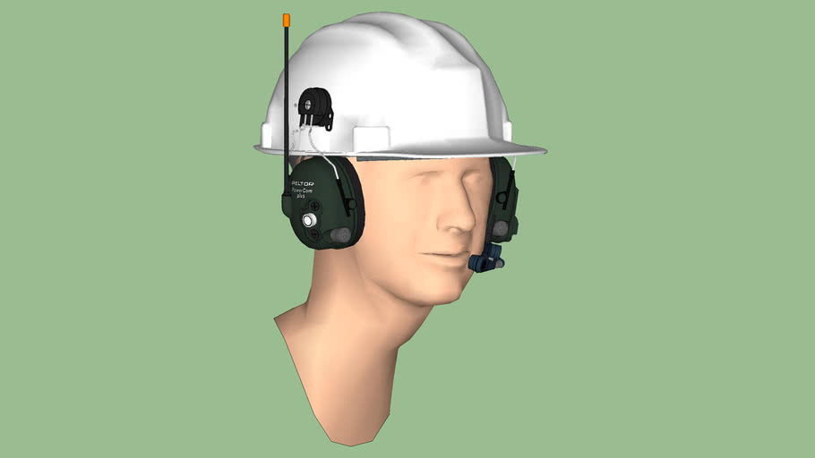 Safety First Series - Hearing Protection - Communications Headset 02 – Helmet Style