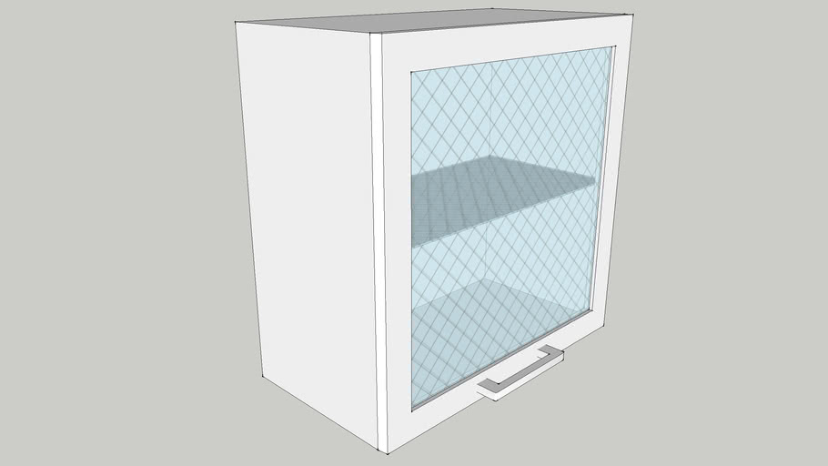 600 Wall Module with One Glass Shutter 600X300X600 CID_CP10000128