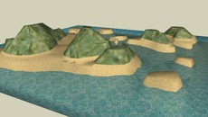 island terrains from bob the monkey and friends. i need them to create island scenes