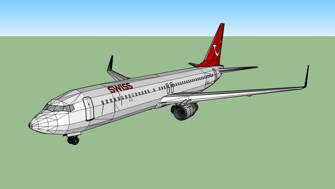 swiss fly 737-800