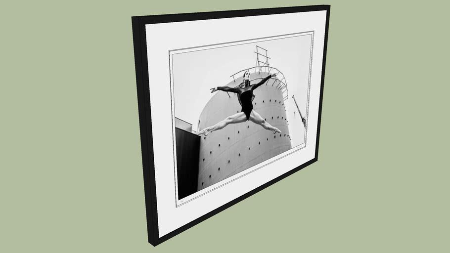 "BRODZIAK ""Ballerina #12"" 98x74 cm - Black&White, Photography, Image, Picture"