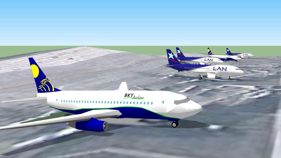 Aviones en el Aeropuerto Internacional de Santiago, Chile Parte 1.