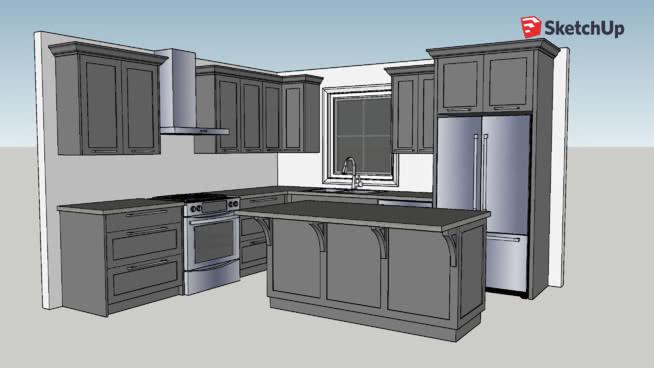 Simple Kitchen | 3D Warehouse on Kitchen Model Design  id=70020