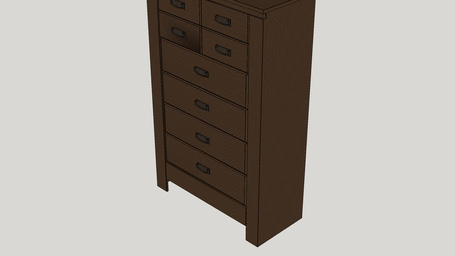 Flattop 5 Drawer Lingerie Chest