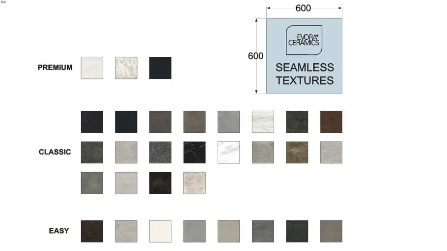 Evora Ceramics textures and materials