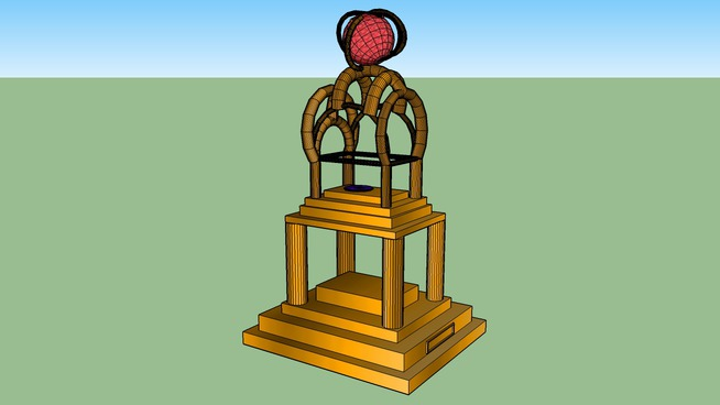Trophy for cad-man's trophy contest