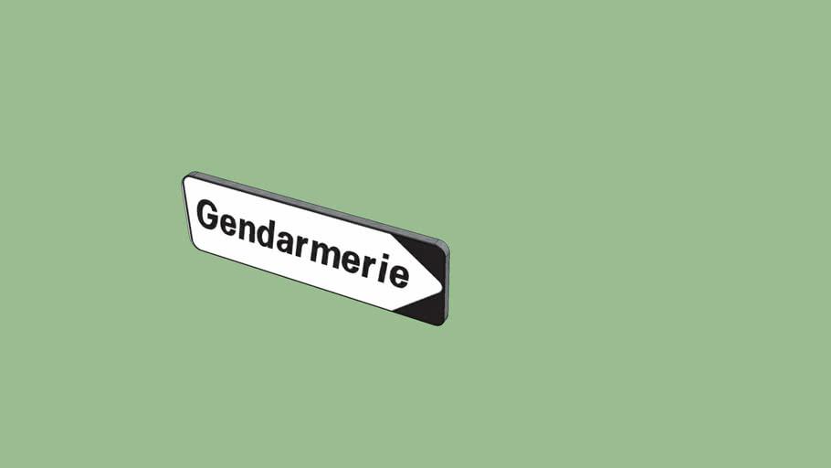 panneau gendarmerie