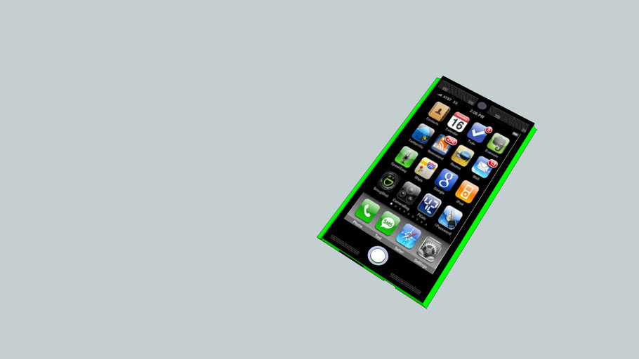 phone design black and green