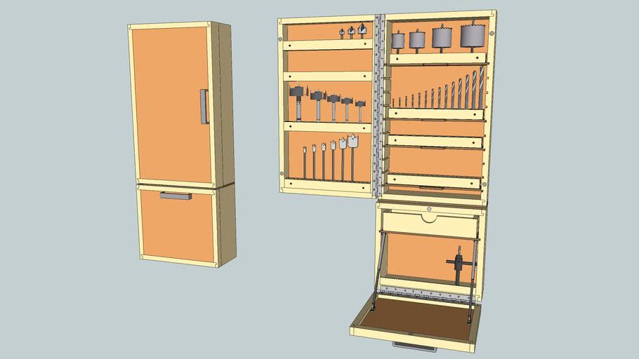 Drill Press Accessory Cabinet