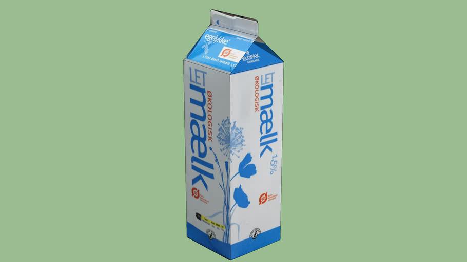 Mælkekarton. Egelykke Oekologisk