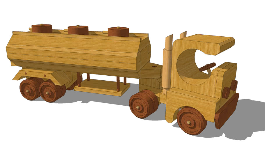 Toy Truck and Tank Trailer
