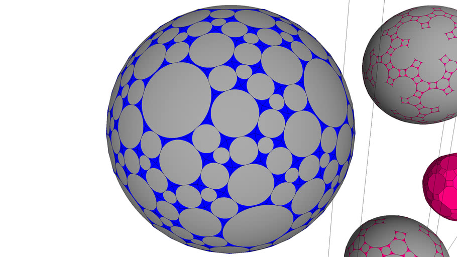 POLYHEDRON SNUB SYMMETRY MODIFIED WITH GEODESIC BLACK VERY HIGH FREQUENCY