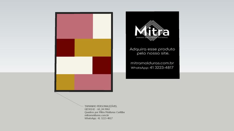 GEO0142 - 60x84  l Quadro Abstrato l Mitra Quadros Personalizados