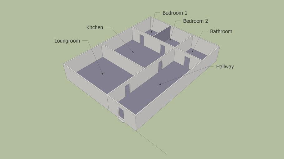 House Plan 2 3d Warehouse