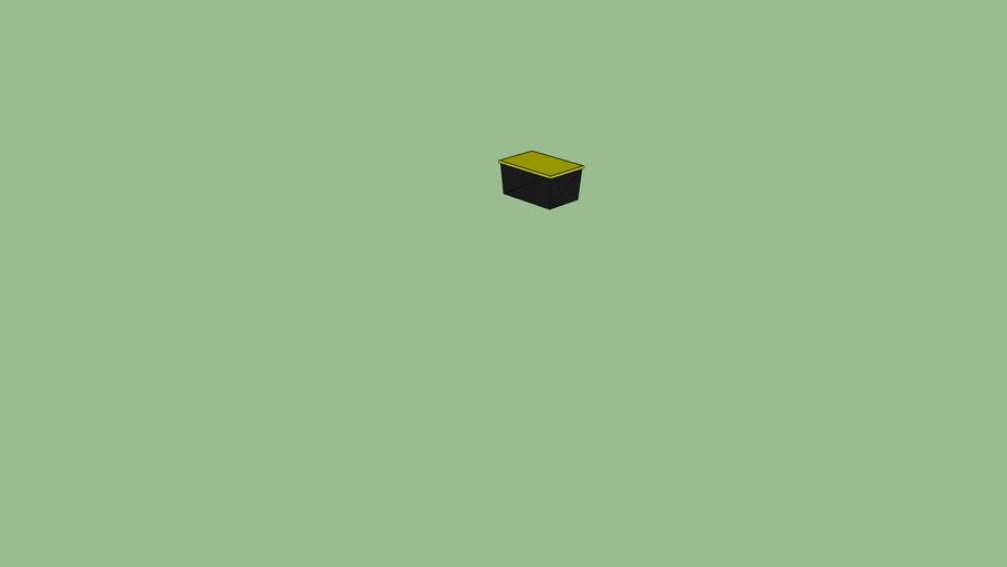 Costco Black Yellow Storage Container