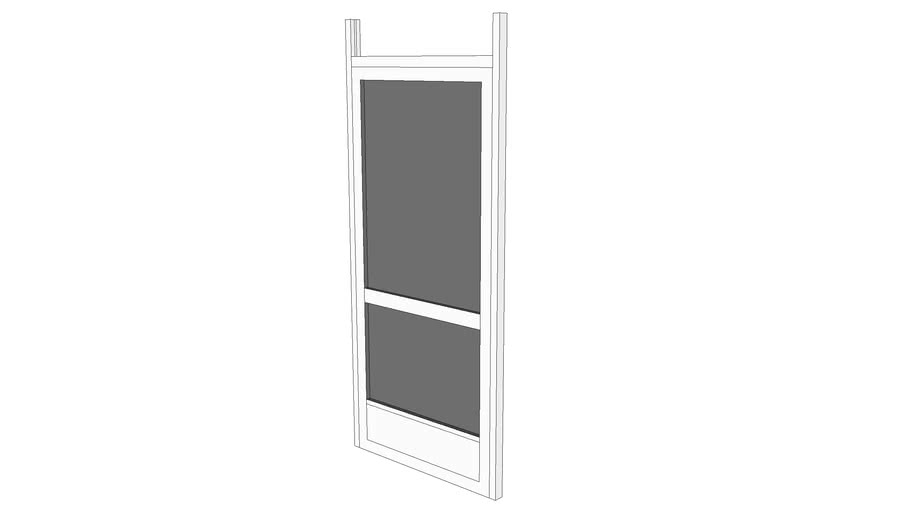 screen door with header