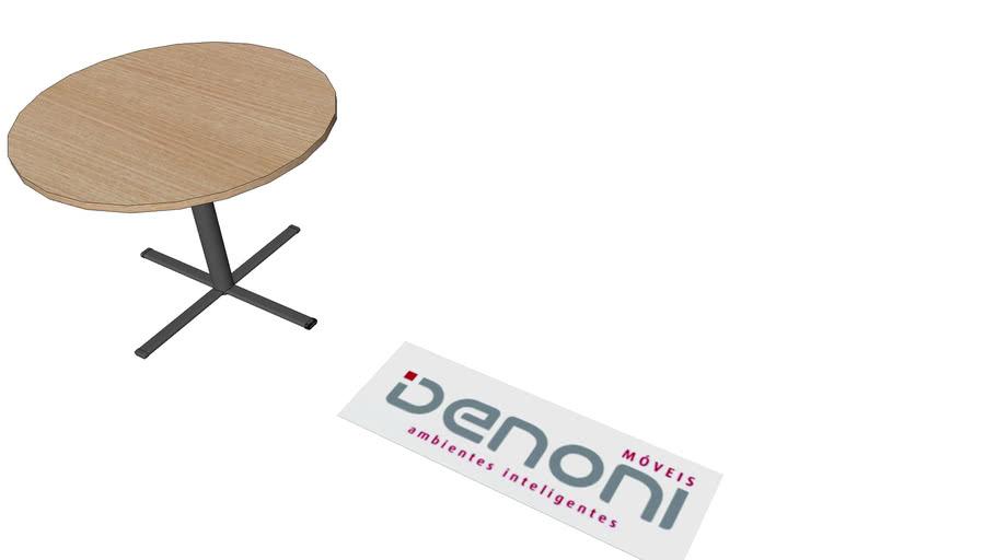 mesa de reunião redonda 100x74 pé nº3