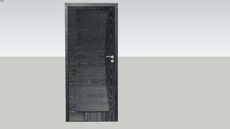 Porte Rozière Mistral design ® - Chêne ardoise brossé