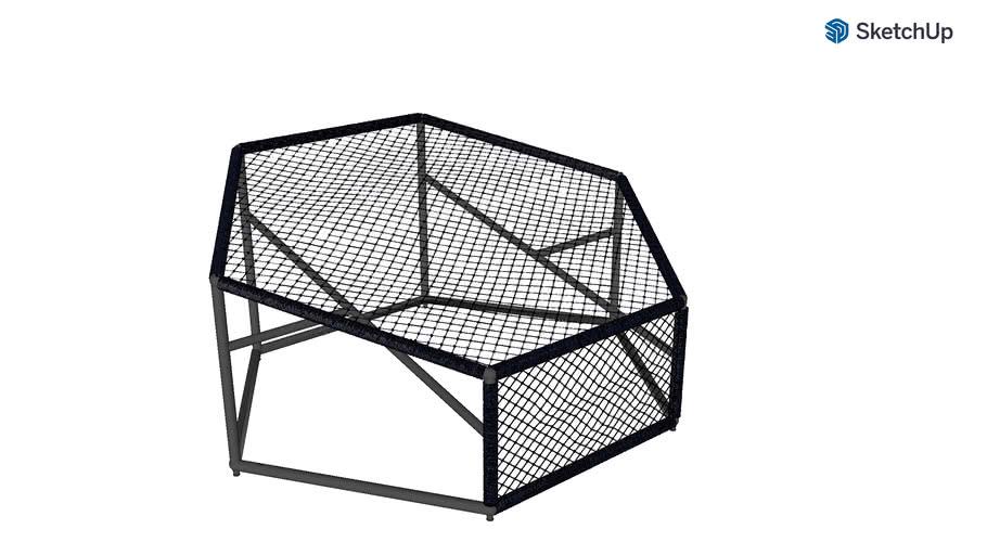 Poltrona Arrastão Hexagonal