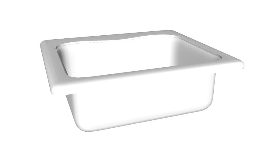 """K-3362-4 Staccato(TM) 25"""" x 22"""" x 8-5/16"""" top-mount single-bowl kitchen sink with 4 faucet holes"""
