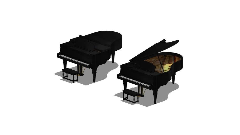 "Pianos de Cauda ""Aberto e Fechado"""