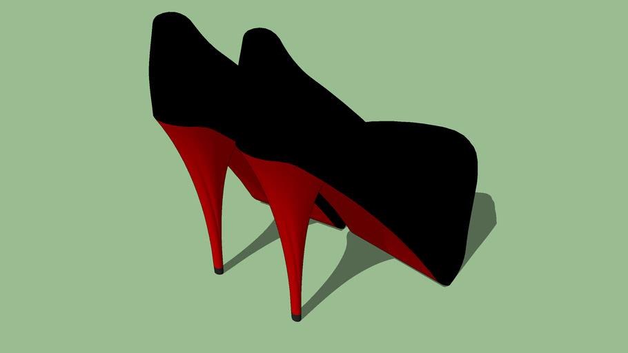Sapato Alto Vinil