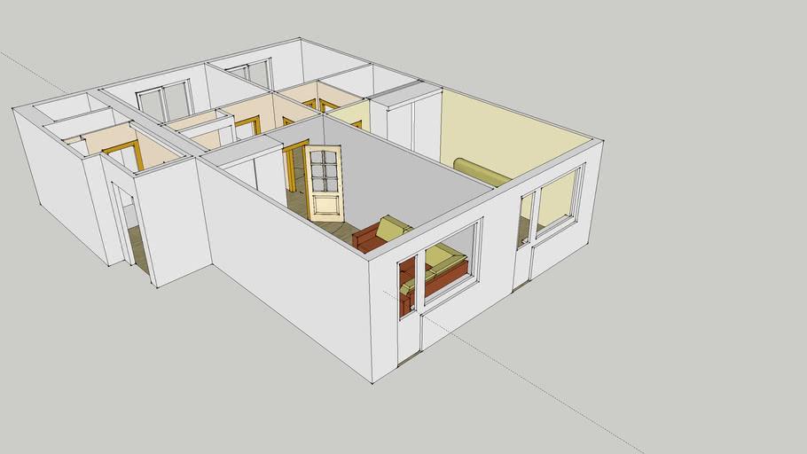 Квартира 602 серия, 3 изолированные комнаты, 1ый этаж